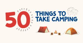 50 Things to Take Camping